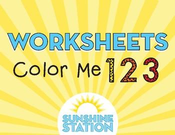 Worksheets - Color Me 123