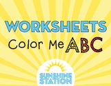Worksheets - Color Me ABC