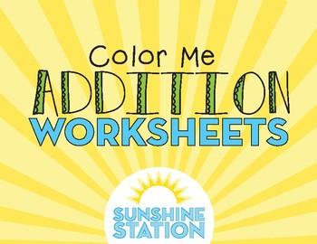 Worksheets - Color Me Addition