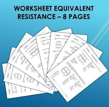 Worksheets - Electricity / Electric Current