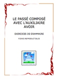 Worksheets: Exercices for the passe compose of avoir verbs