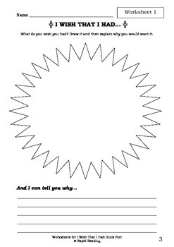 Worksheets for I WISH THAT I HAD DUCK FEET - Dr Seuss - Picture Book - Literacy