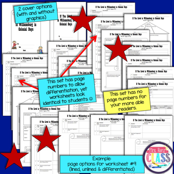 If You Lived in Williamsburg in Colonial Days NonFiction Comprehension Packet