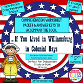 If You Lived in Williamsburg in Colonial Days NonFiction C
