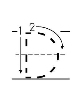 Worksheets Learn to write alphabet EN
