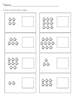 Worksheets: Learning Numbers 1 through 10