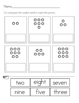 worksheets learning numbers 1 through 10 by cynthia payne tpt. Black Bedroom Furniture Sets. Home Design Ideas