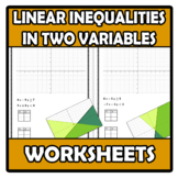 Worksheets - Linear inequalities with two variables (and systems)
