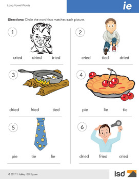 Worksheets - Long Vowel Sounds I - Gr 1-2