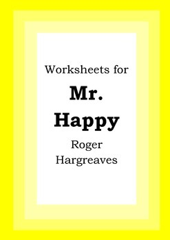 Worksheets for MR. HAPPY - Roger Hargreaves - Picture Book