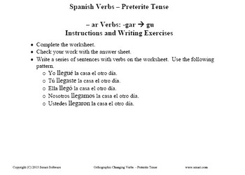 Worksheets-Preterite and Imperfect-Tenses