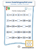 Maths Worksheets / Kindergarten Math Printables
