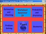 Worksheets - Problem Solving and Estimation