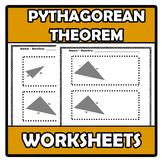 Worksheets - Pythagoras (Pythagorean theorem) - Pitágoras