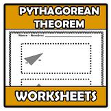 Worksheets - Pythagorean theorem - Teorema de Pitágoras
