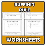 Worksheets - Ruffini's rule - Método de Ruffini