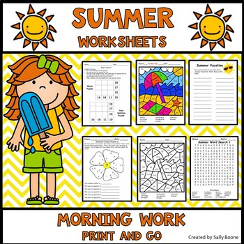Worksheets-Summer Theme #Sale