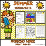 Summer Worksheets Print and Go Morning Work