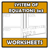 Worksheets - System of equations 3x3 - Gauss - Gaussian El