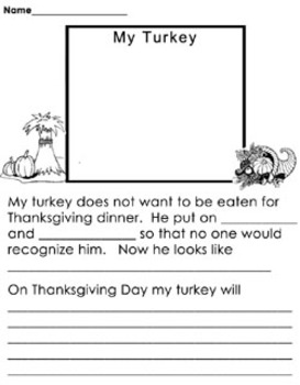 Worksheets - Thanksgiving Themed Pages 6 Different pages