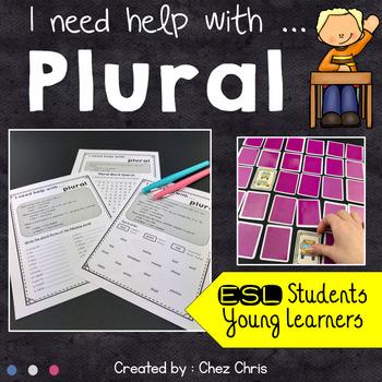 Worksheets and Memory Game - Grammar : Plural nouns - regular and irregular
