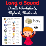 Long a Sound Bundle Printable Worksheets and Flashcards, D