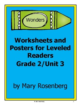 Worksheets and Posters for Wonders Leveled Readers Grade 2 Unit 3
