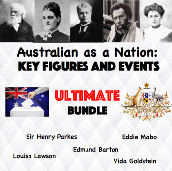 Worksheets and Powerpoint Slides ULTIMATE BUNDLE!!! Australia as a Nation