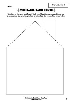 Worksheets for A DARK, DARK TALE - Ruth Brown - Picture Book - Literacy