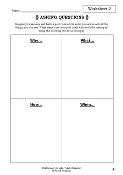 Worksheets for ADA TWIST, SCIENTIST - Andrea Beaty - Picture Book - Literacy