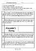 Worksheets for ALEXANDER'S OUTING by Pamela Allen - Comprehension & Vocab