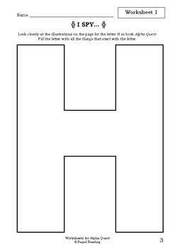 Worksheets for ALPHA QUEST - Bruce Whatley & Rosie Smith - Literacy