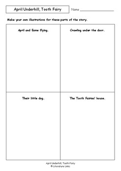 Worksheets for APRIL UNDERHILL, TOOTH FAIRY by Bob Graham - Comprehension