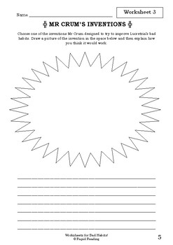 Worksheets for BAD HABITS! - Babette Cole - Picture Book - Literacy
