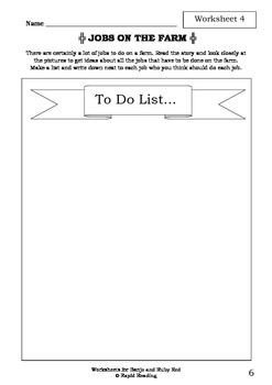 Worksheets for BANJO AND RUBY RED - Libby Gleeson - Picture Book - Literacy