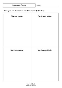 Worksheets for BEAR AND CHOOK by Lisa Shanahan & Emma Quay - Comprehension