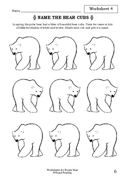 Worksheets for BOOGIE BEAR - David Walliams - Picture Book Activities
