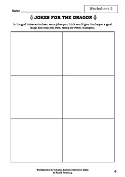Worksheets for CHARLIE COOK'S FAVOURITE BOOK - Julia Donaldson - Picture Book