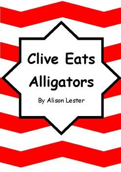Worksheets for CLIVE EATS ALLIGATORS by Alison Lester - Comprehension & Vocab
