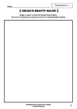 Worksheets for FEATHERS FOR PHOEBE - Rod Clement - Picture Book - Literacy