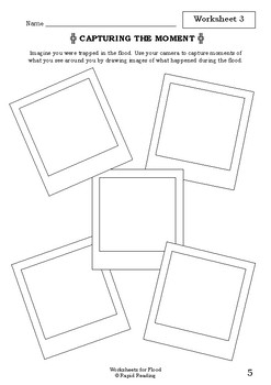 Worksheets for FLOOD - Jackie French - Picture Book - Literacy