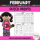 Worksheets for February