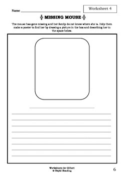 Worksheets for GILBERT - Colin Thompson - Picture Book - Literacy