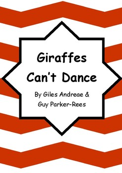 Worksheets for GIRAFFES CAN'T DANCE by Giles Andreae & Guy Parker-Rees - Vocab