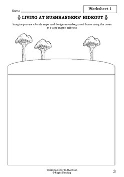 Worksheets for IN THE BUSH - Roland Harvey - Picture Book - Literacy