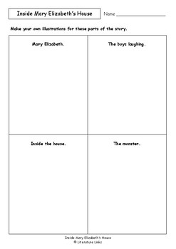 Worksheets for INSIDE MARY ELIZABETH'S HOUSE by Pamela Allen - Comprehension