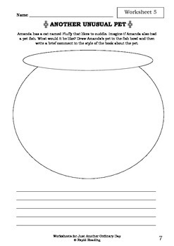 Worksheets for JUST ANOTHER ORDINARY DAY - Rod Clement - Picture Book - Literacy