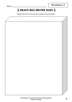 Worksheets for LONG LIVE PRINCESS SMARTYPANTS - Babette Cole - Picture Book