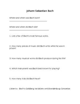 Worksheets for Lives of the Musicians by Kathleen Krull