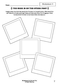 Worksheets for ME AND YOU - Anthony Browne - Picture Book - Literacy